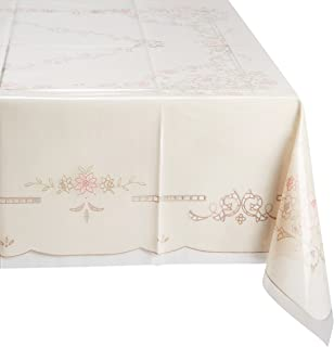 MEIWA 桌布(1件) MG印花蕾丝系列 Lorelei 120cm×150cm 粉色