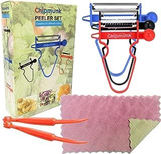 Magic Trio Peeler Set Use as Vegetable Peeler Potato Peeler Veggie Peeler Julienne Peeler Orange Peeler Garlic Peeler with 2 Orange Peeler + 1 Kitchen Towels (6 pcs)