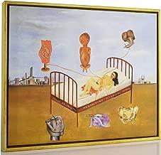 Berkin Arts Framed Kahlo de Rivera Giclee Canvas Print Paintings Poster Reproduction Fine Art Home Decor (Henry Ford Hospital)