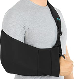 Vive Arm Sling - Medical Support Strap for Broken, Fractured Bones - Adjustable Shoulder, Rotator Cuff Full Soft Immobilizer - For Left, Right Arm, Men, Women, Subluxation, Dislocation, Sprain, Strain