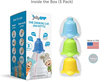 JellyCAP - One Drinking CAP, Any Bottle (3 Count) (Blue/Green/Yellow)