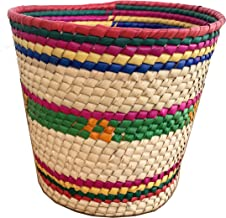 Artisinal Mexican Handwoven sotorage basket. Perfect for Home Decor, Storage and More. (Multicolor 2)