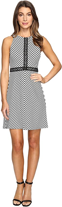 Striped Twill Knit Dress