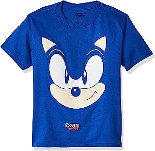 SEGA boys Sonic the Hedgehog Big Face Short Sleeve Tshirt T-Shirt