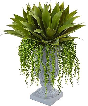 Nearly Natural 6901 Agave Senecio Succulent Arrangement