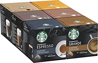 STARBUCKS Mixed Cup Variety Pack by Nescafe Dolce Gusto Coffee Pods (Pack of 6, Total 72 Capsules)