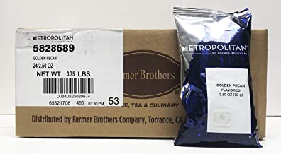 Golden Pecan Flavored Ground Coffee, Metropolitan by Farmer Brothers, 24/2.5 oz bags
