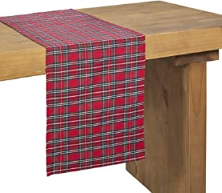 Ling's moment Buffalo Plaid Table Runner Red Table Runners for Thanksgiving Decorations 12x72 inch Christmas Table Decor Dresser Scarf