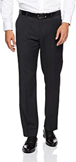 Van Heusen Men's Euro Fit Suit Trouser, Charcoal Grey
