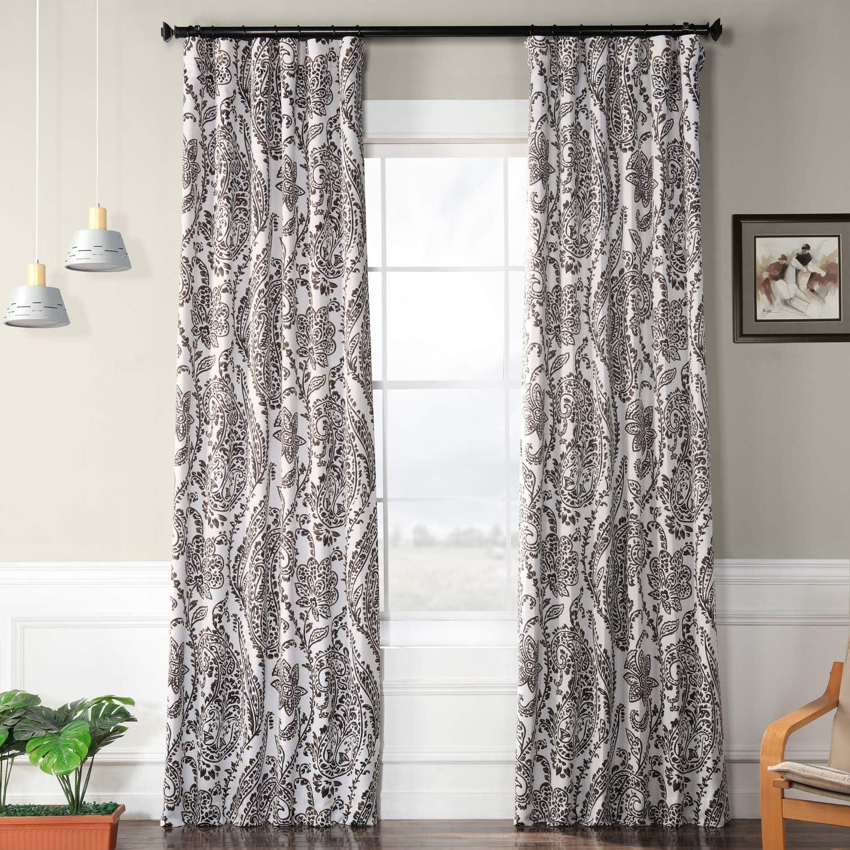 HPD Half Price Drapes BOCH-KC16072D-108 Tea Time Room Darkening Curtain, 50 x 108, Ochre