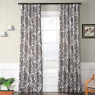 HPD Half Price Drapes BOCH-KC16072D-120 Blackout Room Darkening Curtain (1 Panel), 50 X 120, Tea Time Ochre