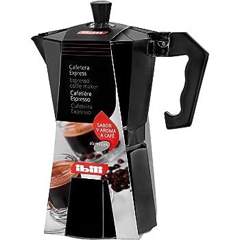 Ibili Bahía Black - Cafetera express aluminio, para una taza ...