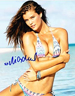NINA AGDAL SIGNED 8X10 PHOTO SPORTS ILLUSTRATED SWIMSUIT 2014 PROOF PIC COA A