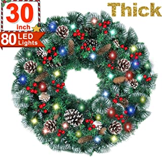 40 inch lighted christmas wreath