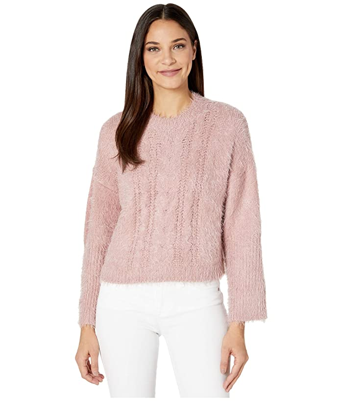 BB Dakota  Feelin Lashy Eyelash Cable Knit Sweater (Rose Quartz) Womens Sweater
