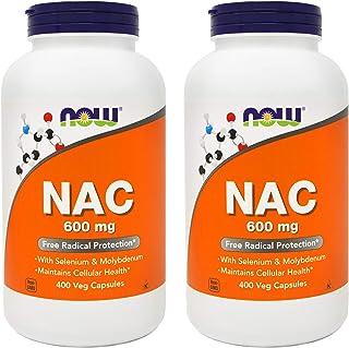 Now NAC 600 mg, 400 Veg Capsules (Pack of 2) - N-Acetyl-Cysteine with Selenium & Molybdenum