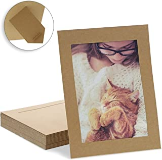 Juvale Cardboard Photo Picture Frame Easel (30 Pack) 6 x 8 Inches, Kraft