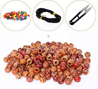 BEADNOVA Painted Wood Beads with Colorful Beads for Jewelry Making (12mm,300pcs)