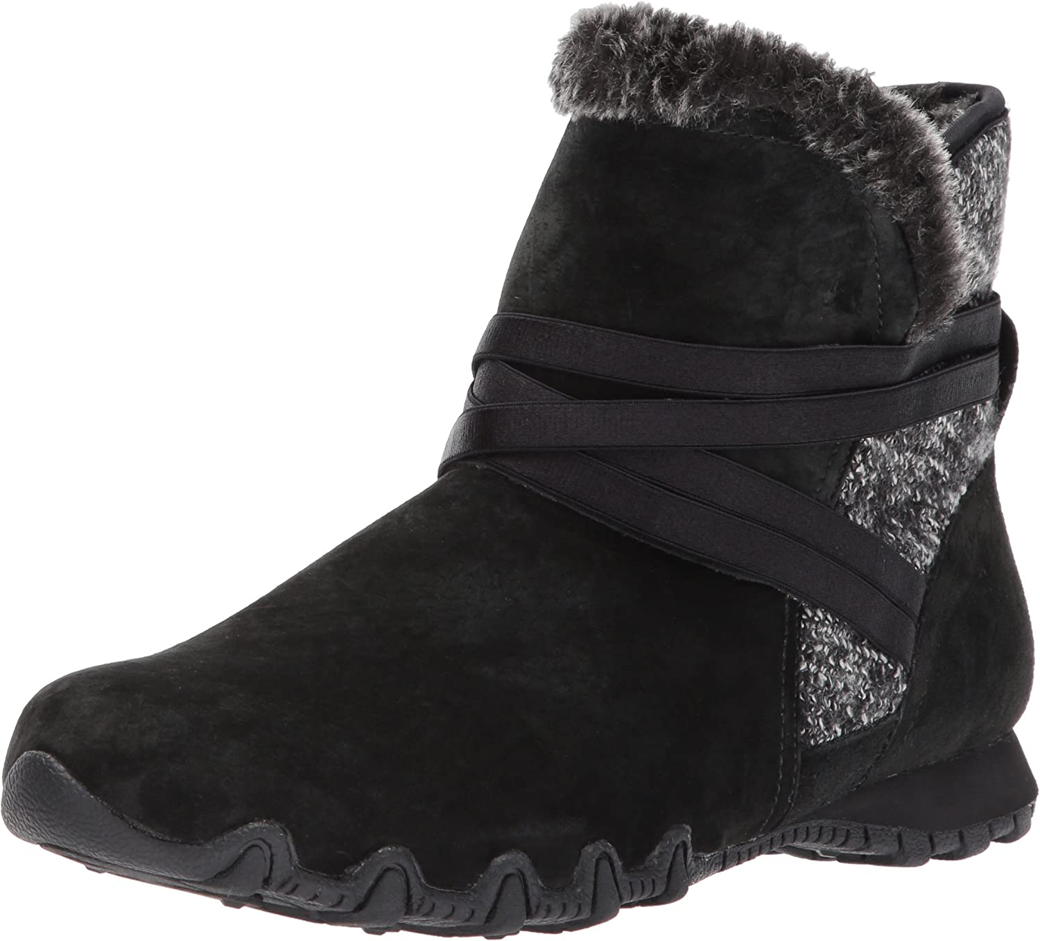 Skechers Womens Bikers - Flare Ankle Bootie