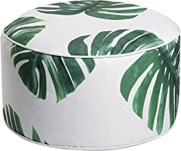 Art Leon Outdoor Inflatable Ottoman Leaf Green Round Patio Footstool for Kids and Adults,..