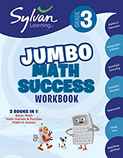 3rd Grade Jumbo Math Success Workbook: 3 Books in 1--Basic Math, Math Games and Puzzles, Math in Action; Activities, Exerc...