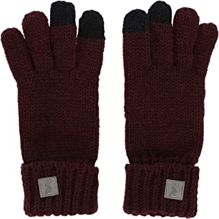 Liverpool FC Vintage Red Womens Soccer Cable Knit Gloves AW 18/19 LFC Official