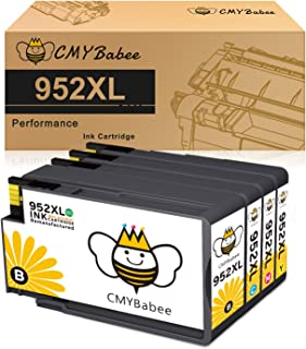 CMYBabee Compatible Ink Cartridge Replacement for HP 952 XL 952XL use with OfficeJet Pro 7740 7720 8702 8710 8715 8720 8740 8730 8216 Printer (1 Black, 1 Cyan, 1 Magenta, 1 Yellow, 4-Pack)