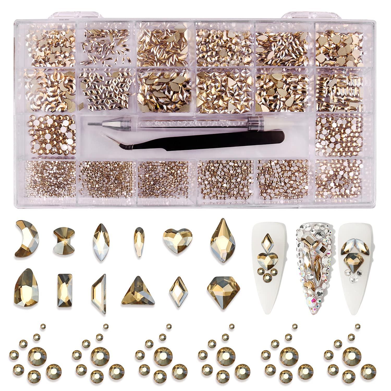 Nail Art Sale item Rhinestones Challenge the lowest price of Japan ☆ Kit 3100pcs Diamond fo Crystal