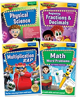 3rd Grade DVD Collection - Multiplication Rap, Math Word Problems, Physical Science and Beginning Fractions & Decimals