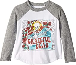 Super Soft Grateful Dead Print Long Sleeve Raglan Tee (Toddler/Little Kids)