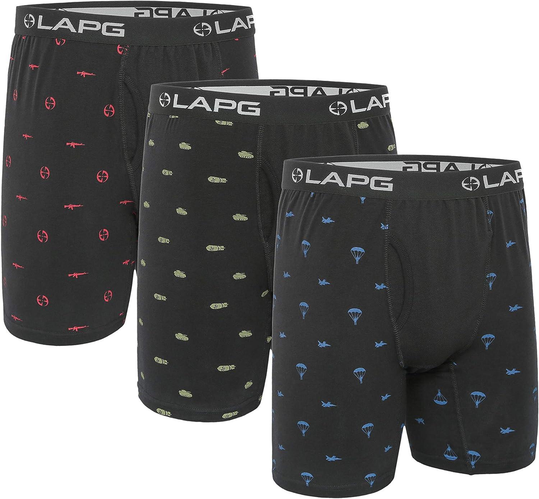 オンライン限定商品 LAPG Tac Comfort オンライン限定商品 Design Briefs 3-Pack Assorted Boxer