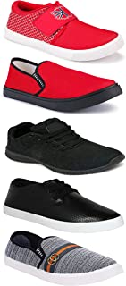 WORLD WEAR FOOTWEAR Sports Running Shoes/Casual/Sneakers/Loafers Shoes for MenMulticolors (Combo-(5)-1219-1221-1140-748-1032)