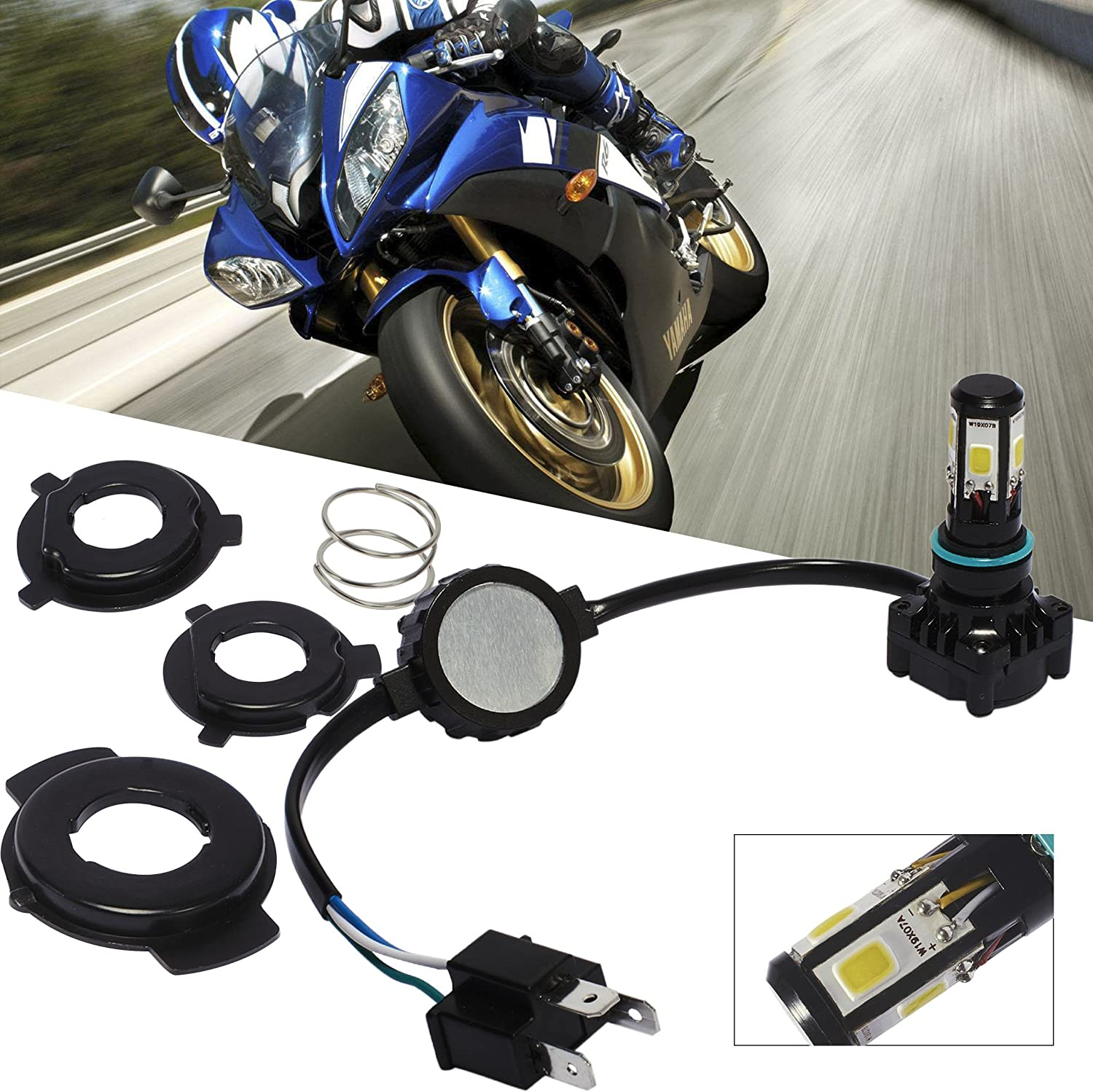 Motorcycle LED depot Headlight H4 HS1 Hb2 High Bright Super 36W Power Lowest price challenge