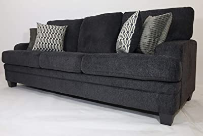 Danube Home Coaster 3 Seater Fabric Sofa - Grey