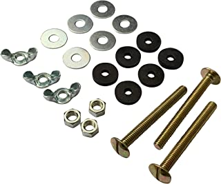 """Qualihome Universal 5/16"""" x 3"""" Toilet Tank To Bowl Toilet Bolt Set, Includes Washers, Nuts and 3 Bolt"""