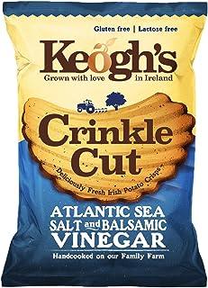 Pack of 24 50g (1.76oz) Keogh's Crinkle Cut Atlantic Sea Salt and Balsamic Vinegar Potato Chips Crisps Gluten Free (Irish ...