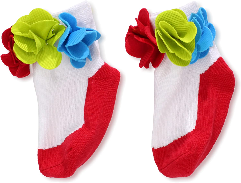 Mud Pie Baby-Girls Newborn Flower Socks
