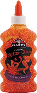 orange glitter glue