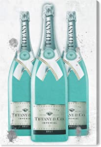 The Oliver Gal Artist Co. Fashion and Glam Wall Art Canvas Prints 'Diamonds and Bubbles Champagne' Lifestyle Home Décor, 10