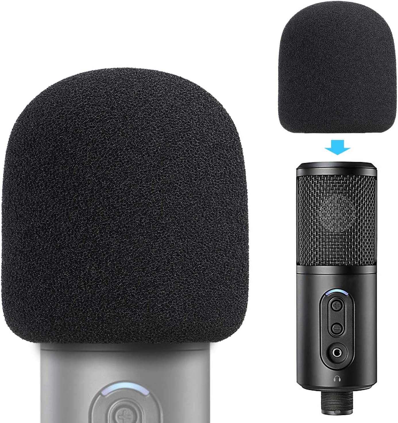ATR2500x Pop Filter Foam Cover Max 85% OFF - Fort Worth Mall Mic A Windscreen for Customized