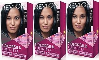 Revlon Colorsilk Luminista Haircolor, Bright Black, 3 Count