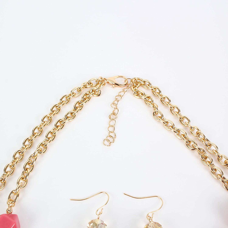 Ufraky Beaded Strand Choker Necklace - Fashion Jewelry Birthday Gifts for Women