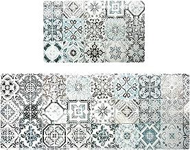 Kitchen Mat Set, Anti Fatigue Set of 2 Waterproof Cushioned Soft Kitchen Rugs Non-Slip Back Comfort Floor Mats Washable Oi...