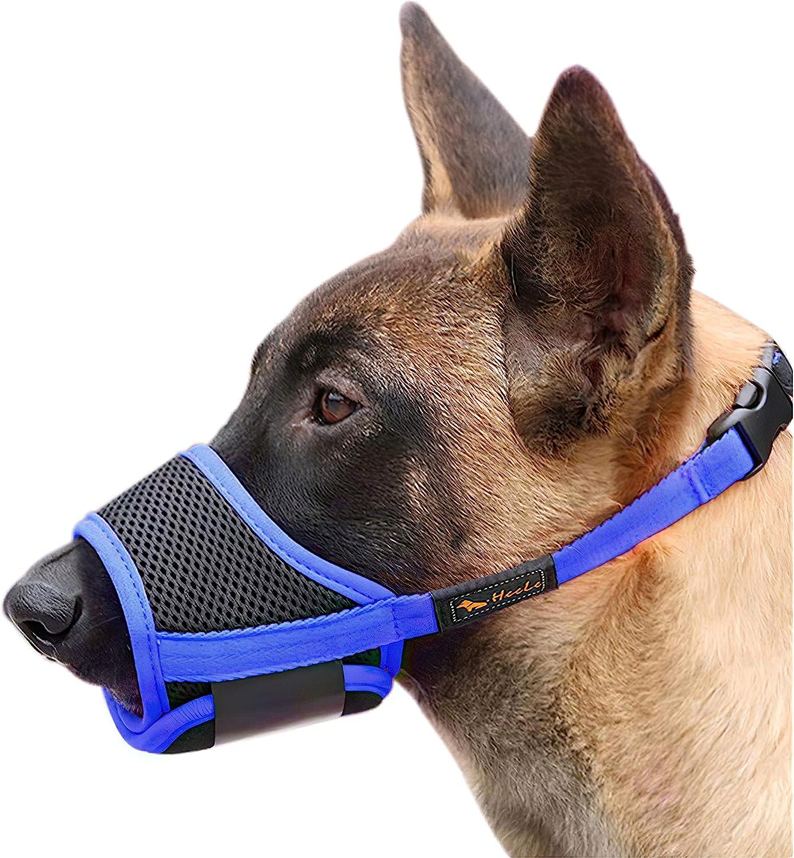 HEELE Dog Muzzle Soft Nylon Chewing mart A Anti Biting Store Barking