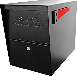 Mail Boss 7206, Black Package Master Curbside Locking Security Mailbox