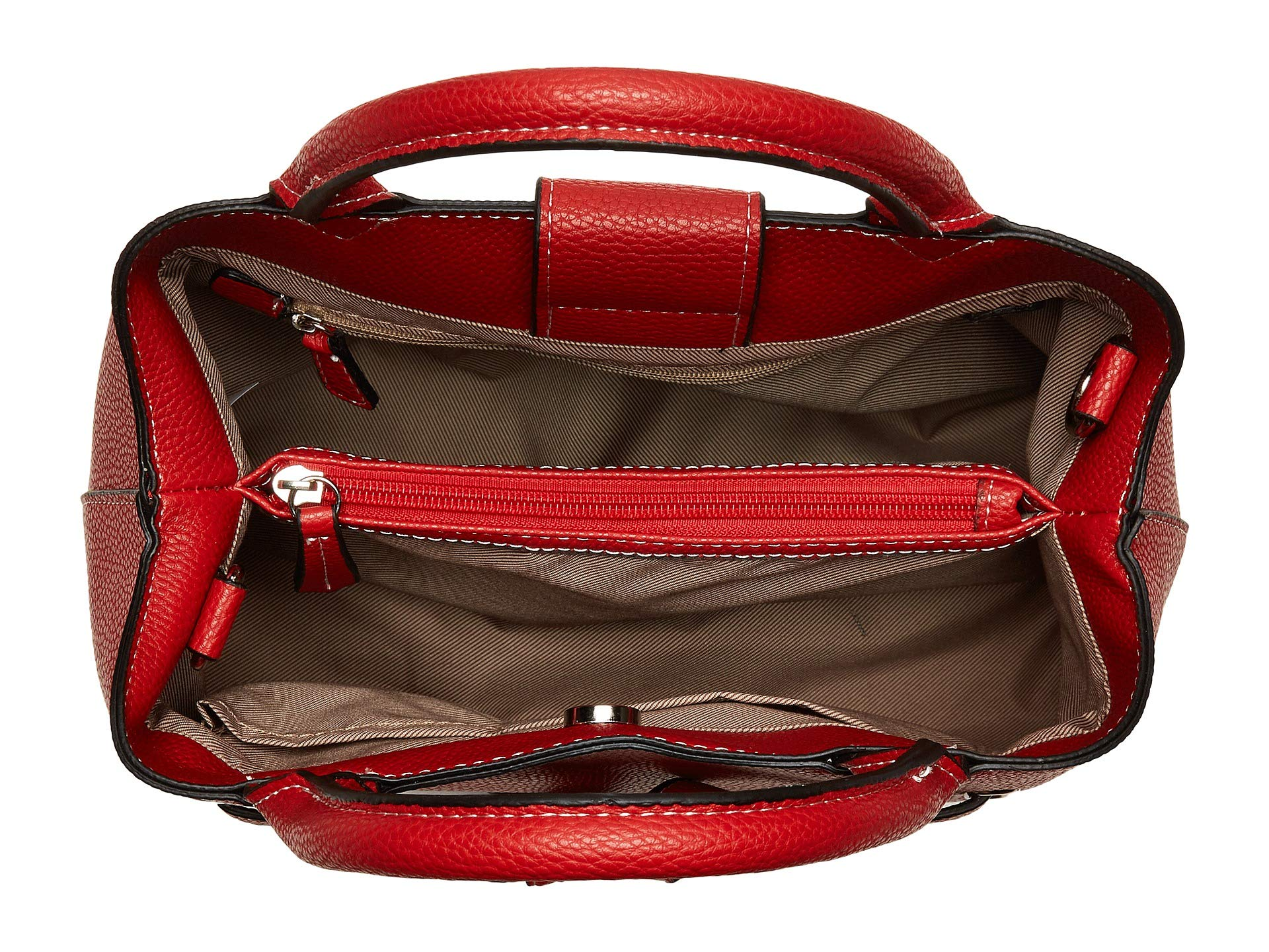 Triple Ruby Fog Satchel Poppy London Hqxw5nXdw