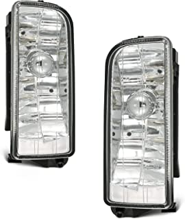 ECCPP Clear Glass Lens OE/Replacement Fog Light for 1992-1998 BMW E36/M3 3 Series Pair Set