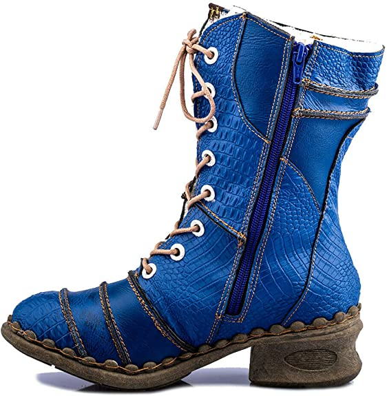 TMA Damenschuhe Leder Winterstiefel Boots Stiefel Gefütterte Winterschuhe 5199