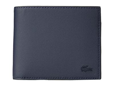 Lacoste Classic Small Billfold Coin (Peacoat Blue) Bill-fold Wallet