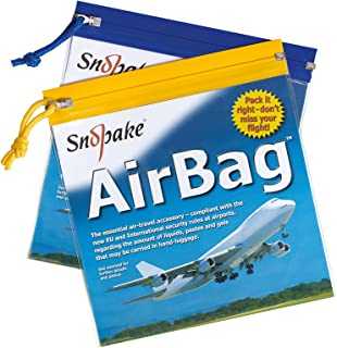 Snopake Airport Bags Clear Plastic Travel For Liquids - TSA Approved - Pack 5